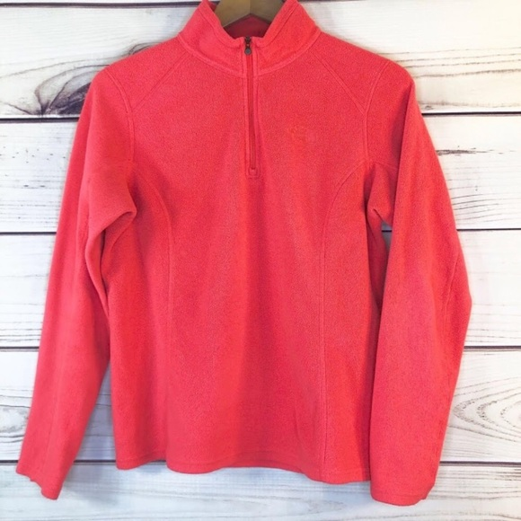 The North Face Jackets & Blazers - The North Face Pink Fleece Pullover Polartec